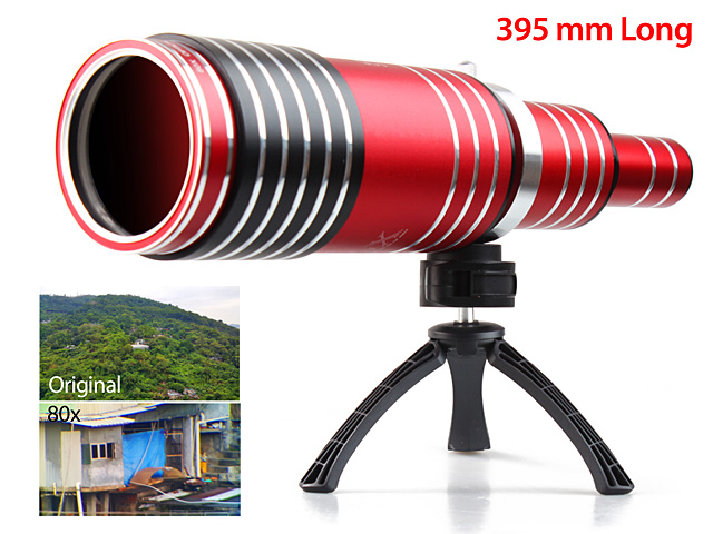 iPhone XS Max (6.5) Super Spy Ultra High Power Zoom 80X Telescope with Tripod Stand
