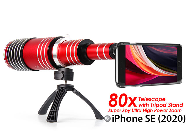 iPhone SE (2020) Super Spy Ultra High Power Zoom 80X Telescope with Tripod Stand