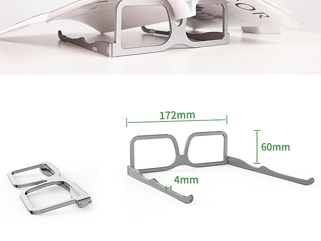 Aluminum Glasses Shape Stand