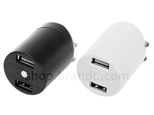 Dual USB Port Mini Travel Adapter