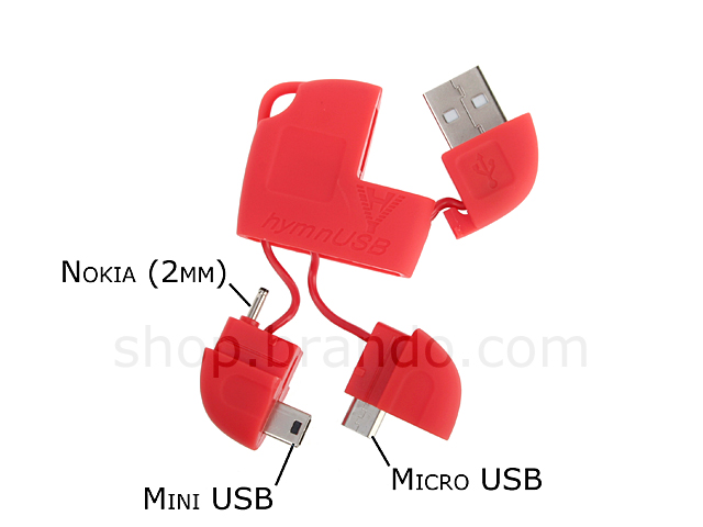 Portable All Ranges Data / Charging Cable (Mini USB/Micro USB/2mm Plug)