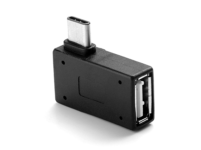 USB 3.1 Type-C Male to USB 2.0 A Female OTG Adapter (90°)