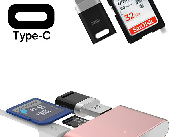 Type-C OTG Card Reader Combo