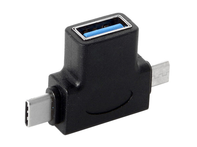 2-in-1 Type-C microUSB OTG Adapter