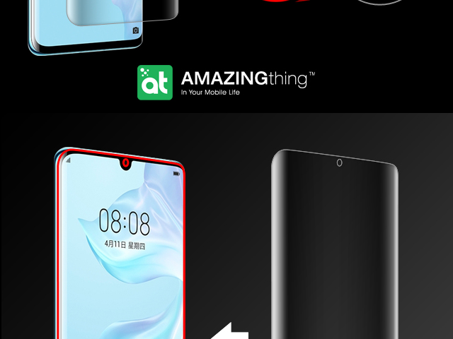 AMAZINGthing Curved Ultra-Clear Screen Protector (Huawei P30 Pro)