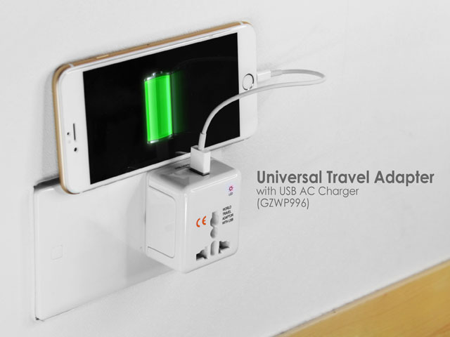 Universal Travel Adapter with USB AC Charger (GZWP99)