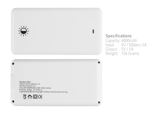 Travel Light Power Bank 4000mAh