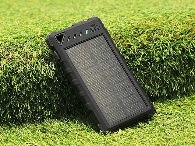 Solar Charger with 20-LEDs (8000mAh)