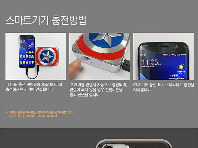 MARVEL Captain America Shield 10500mAh Power Bank