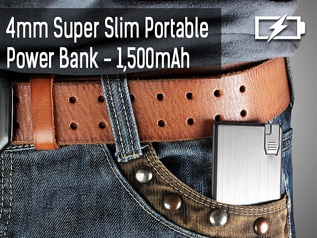 4mm Super Slim Portable Power Bank (1500mAh)