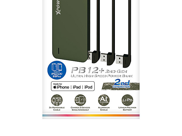 Xpower PB12+ 12000mAh 4.8A Ultra High Speed Power Bank