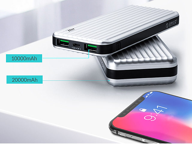 ORICO Suitcase-Style Power Bank with LED Indicator (10000mAh / 20000mAh)