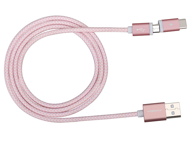 Momax Elite Link Type-C + microUSB Sync Charging Cable