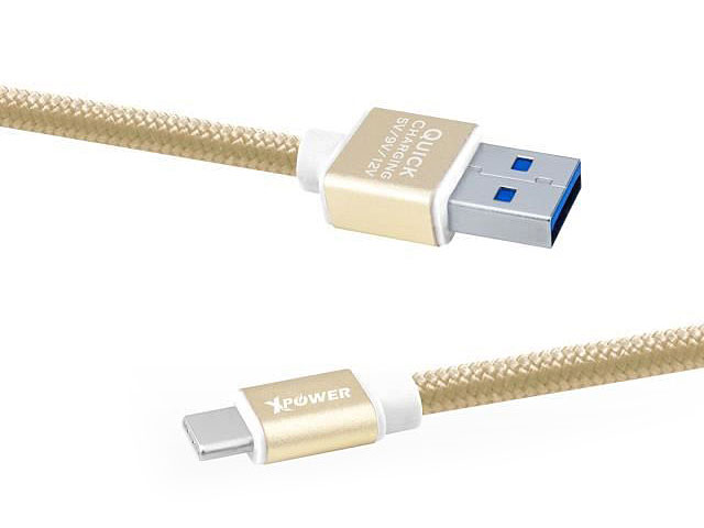 Xpower 1.2M Aluminium Alloy Nylon Type-C USB Cable