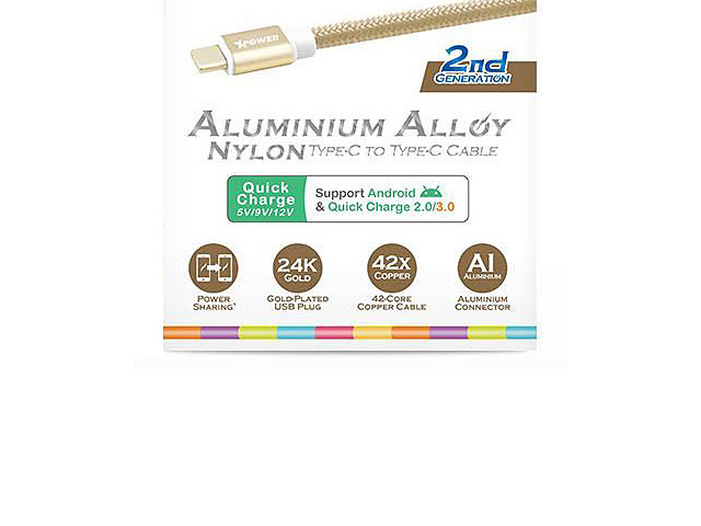 Xpower 2nd Gen. 1.2M Type-C to Type-C Aluminium Alloy Cable