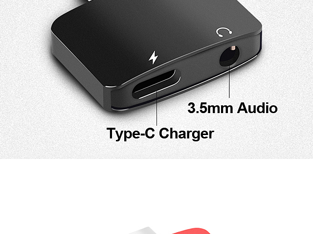 Type-C to 3.5mm Audio + Charger Adapter