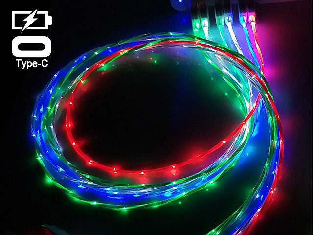 LED Flashing Streamer Type-C Cable