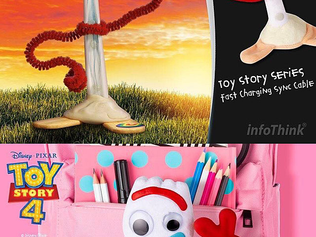 infoThink Toy Story 4 Type-C USB Fast Charging Sync Cable (Forky)