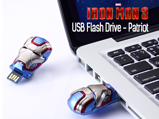 infoThink IRON MAN 3 USB Flash Drive - Patriot