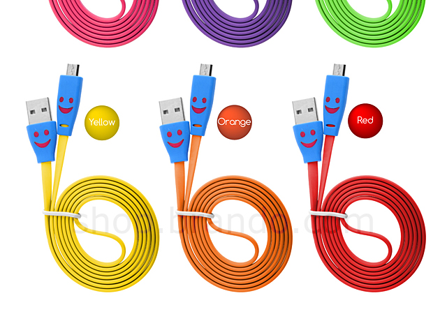 Micro USB Colorful Flat Cable