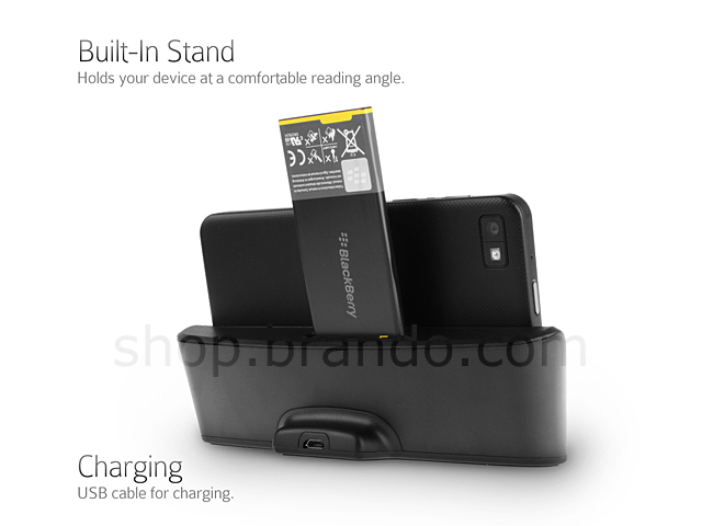 oem blackberry z10 cover mate 2nd battery usb cradle. Black Bedroom Furniture Sets. Home Design Ideas