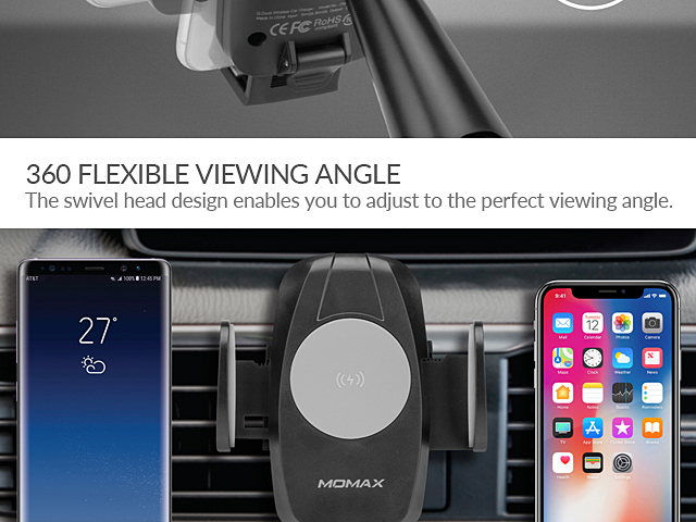 Momax Q.Dock Wireless Charging Car Mount