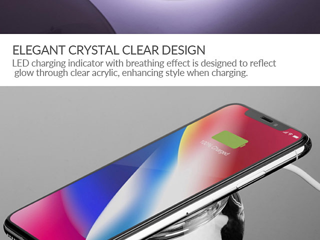 Momax Q.Dock Crystal Fast Wireless Charger