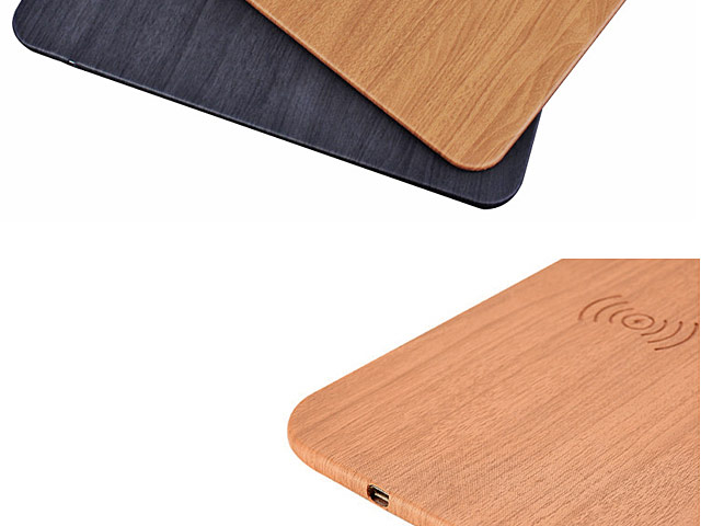 Woody Patterned Mouse Pad with Wireless Charger