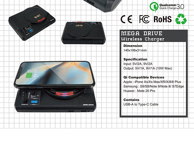 MEGA DRIVE Wireless Charger