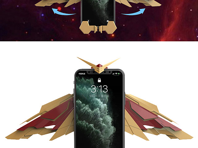 Iron Mechanical Wings Wireless Charger