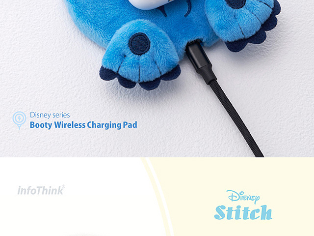 infoThink Disney Series Booty Wireless Charging Pad - Stitch