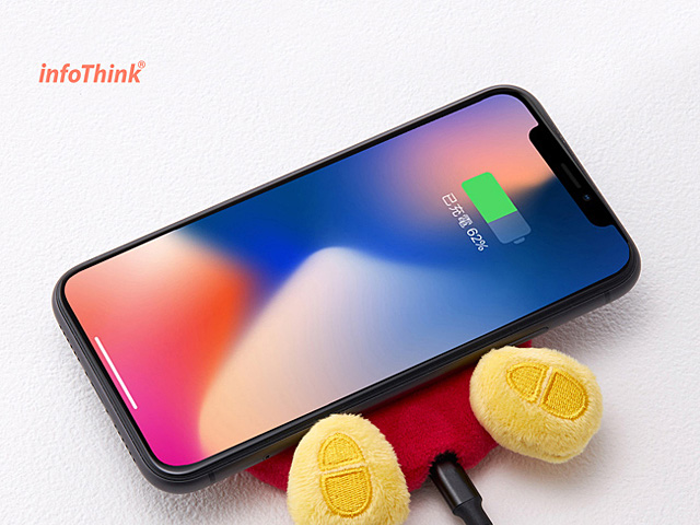 infoThink Disney Series Booty Wireless Charging Pad - Mickey Mouse