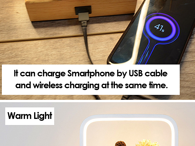Simple Lamp with Wireless Charger